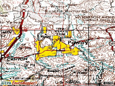 Poway topographic map