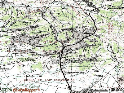 Prunedale topographic map
