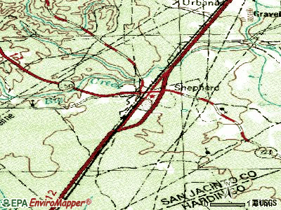 Shepherd topographic map