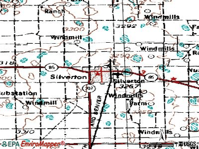 Silverton topographic map