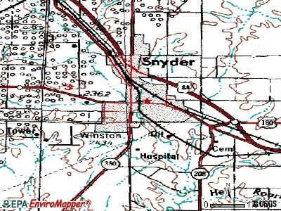 Snyder topographic map