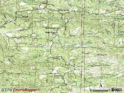 Rail Road Flat topographic map