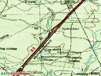 Splendora topographic map