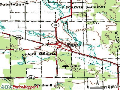 Spur topographic map