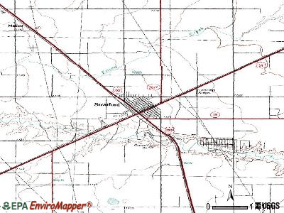 Stratford topographic map