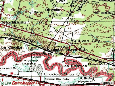 Sullivan City topographic map