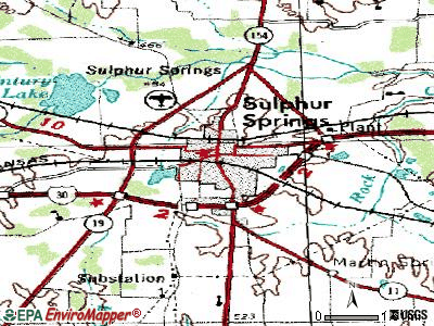 Sulphur Springs topographic map