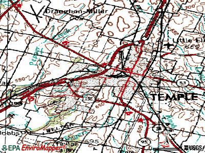 Temple topographic map