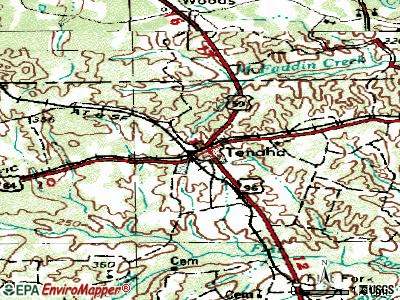 Tenaha topographic map