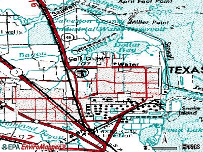 Texas City topographic map
