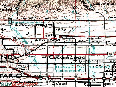 Rancho Cucamonga topographic map