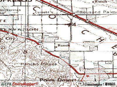 Rancho Mirage topographic map