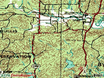 Timberwood Park topographic map