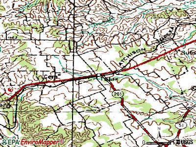 Tolar topographic map