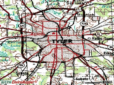 Tyler topographic map