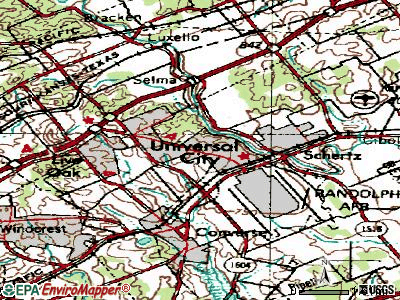 Universal City topographic map