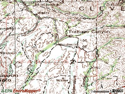 Rancho Santa Margarita topographic map