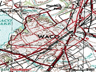 Waco topographic map