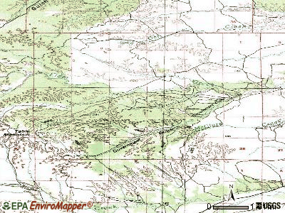 Rancho Tehama Reserve topographic map