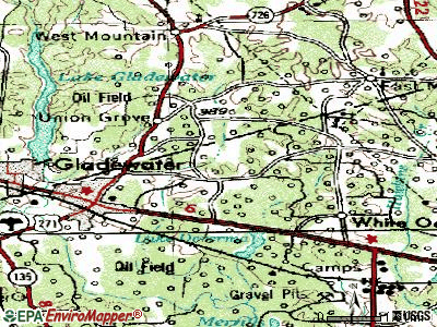Warren topographic map