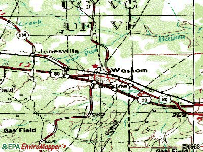 Waskom topographic map