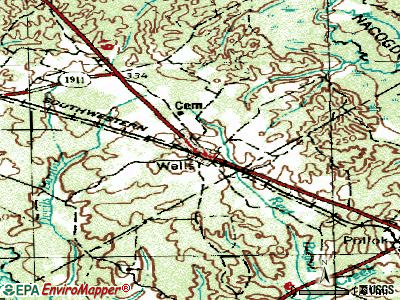 Wells topographic map
