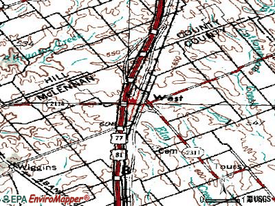 West topographic map