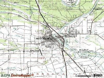 Red Bluff topographic map