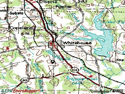 Whitehouse topographic map