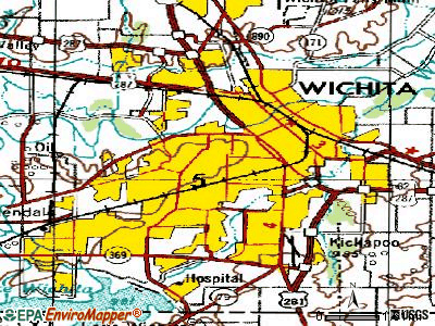 Wichita Falls topographic map