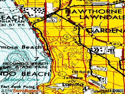 Redondo Beach topographic map