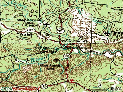 Wimberley topographic map