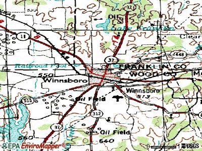 Winnsboro topographic map