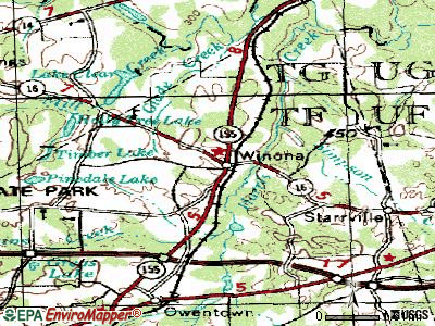 Winona topographic map