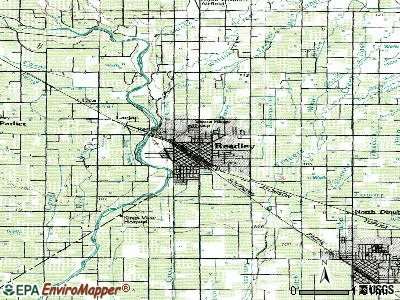 Reedley topographic map