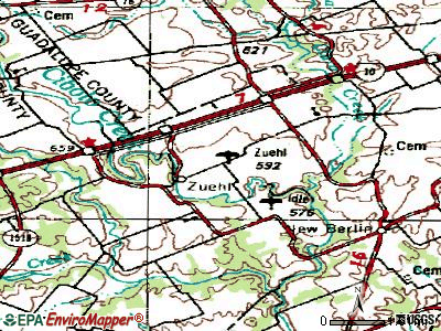 Zuehl topographic map