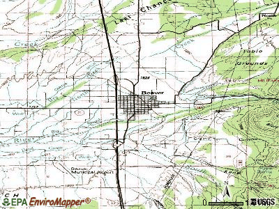 Beaver topographic map