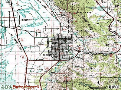 Brigham City topographic map