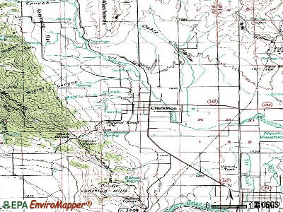 Clarkston topographic map