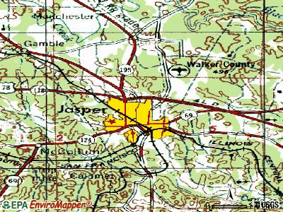Jasper topographic map
