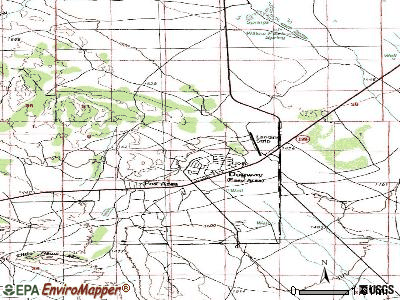 Dugway topographic map