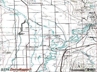 Fielding topographic map