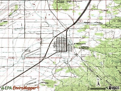 Fillmore topographic map