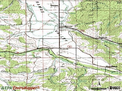 Francis topographic map