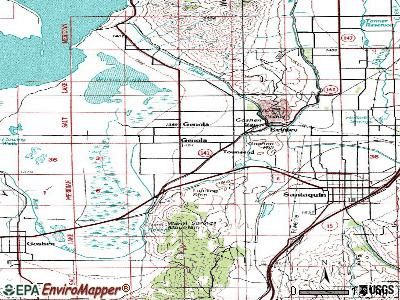 Genola topographic map