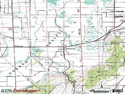 Goshen topographic map