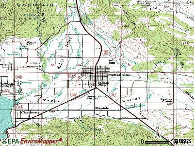 Heber topographic map