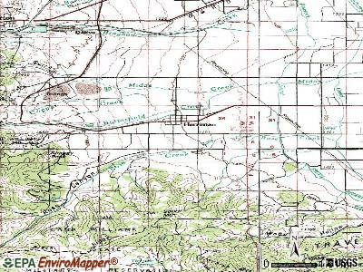 Herriman topographic map