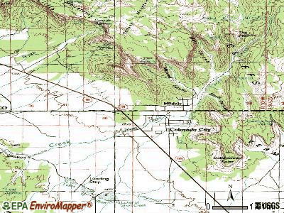Hildale topographic map