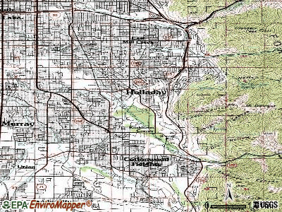 Holladay topographic map